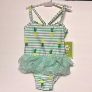 Baby Girls Pineapple Bathing Suit one piece tutu